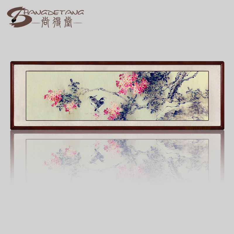 Hall was still new chinese bird and flower painting freehand painting the living room restaurant entrance paintings modern decorative painting bedroom bed head