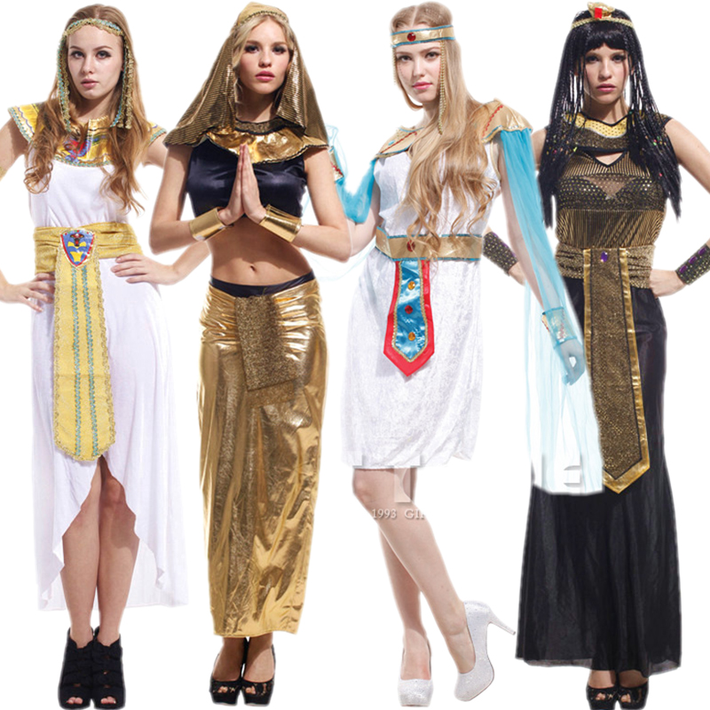 Halloween cosplay costume male robes adult cleopatra mask dance princess dress costumes