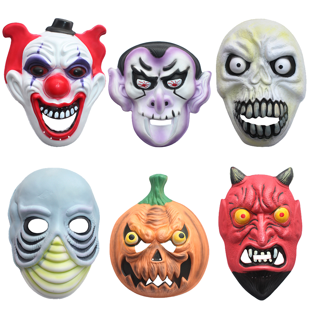 Halloween decorations halloween props adult children cute nontoxic eva ghost mask fits all men and women activities dress zhai set