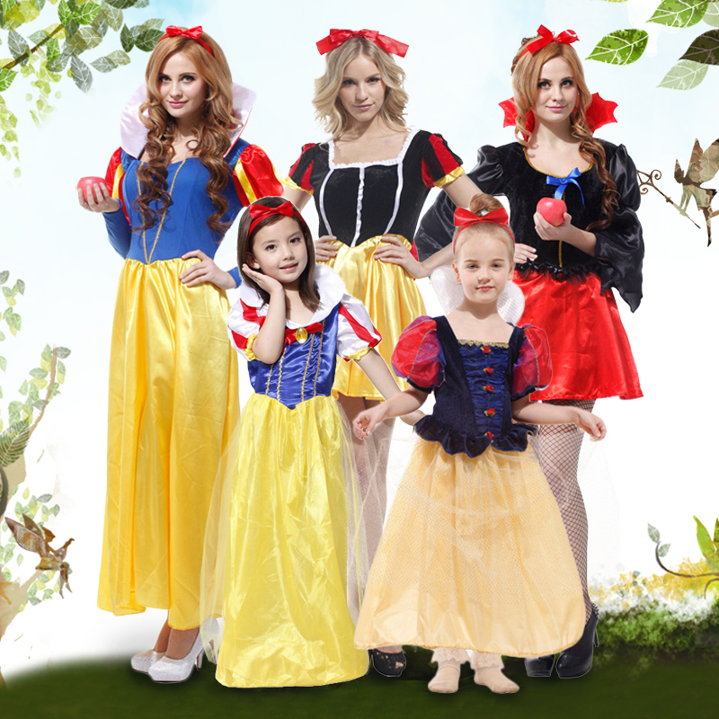 Halloween masquerade cosplay costume princess dress costume adult children clothes cute dress costumes female