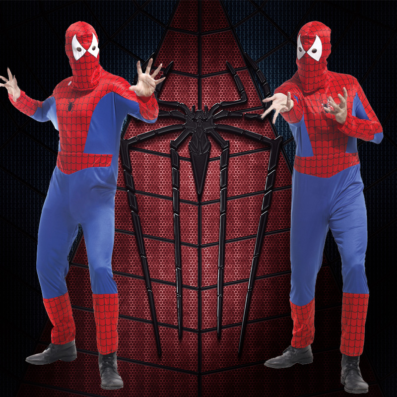 Halloween masquerade performances superhero spiderman tights costume adult costume cos