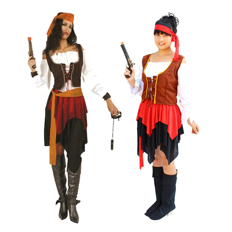 Halloween pirate costume adult female pirate costume masquerade cosplay costumes adult small gong new clothes
