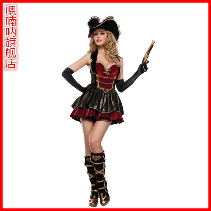 Halloween witch costume cosplay costume adult female pirate costume party dress masquerade pirates of the sea