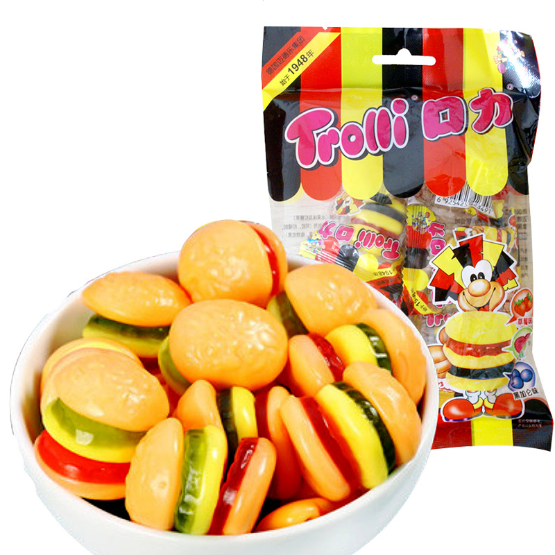 Hamburg trolli gummy mouth force qq sugar 45g (black currant flavor) wedding candy
