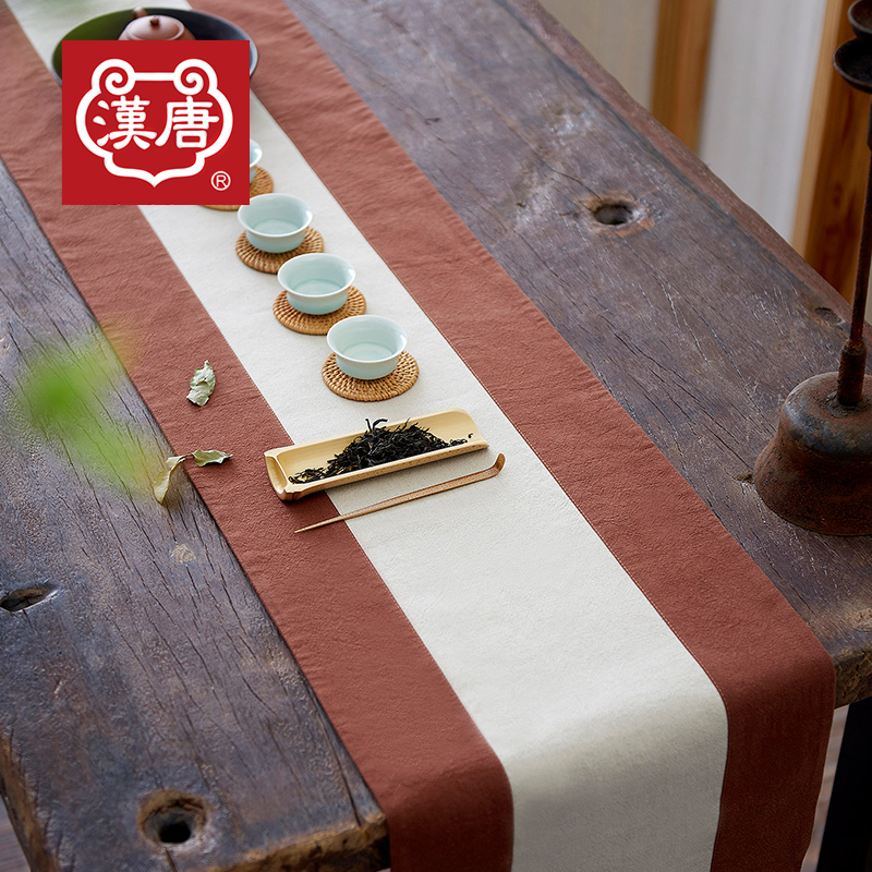 Han and tang tea painted cloth cotton cloth table runner mat mat linen tea towel tea accessories