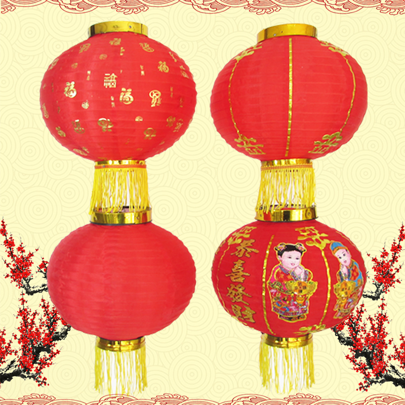 Han tang round red lanterns decorated holiday advertising outdoor small folding lantern lantern dance dance