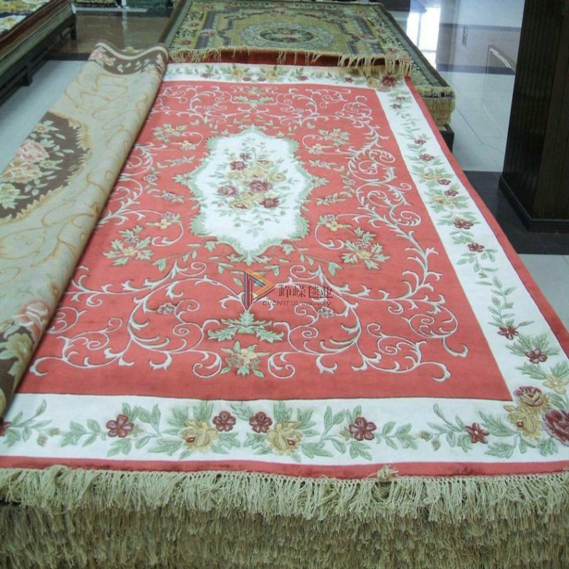 Hand knotted silk * * festive red silk carpet bedroom villa * living room carpet custom carpet