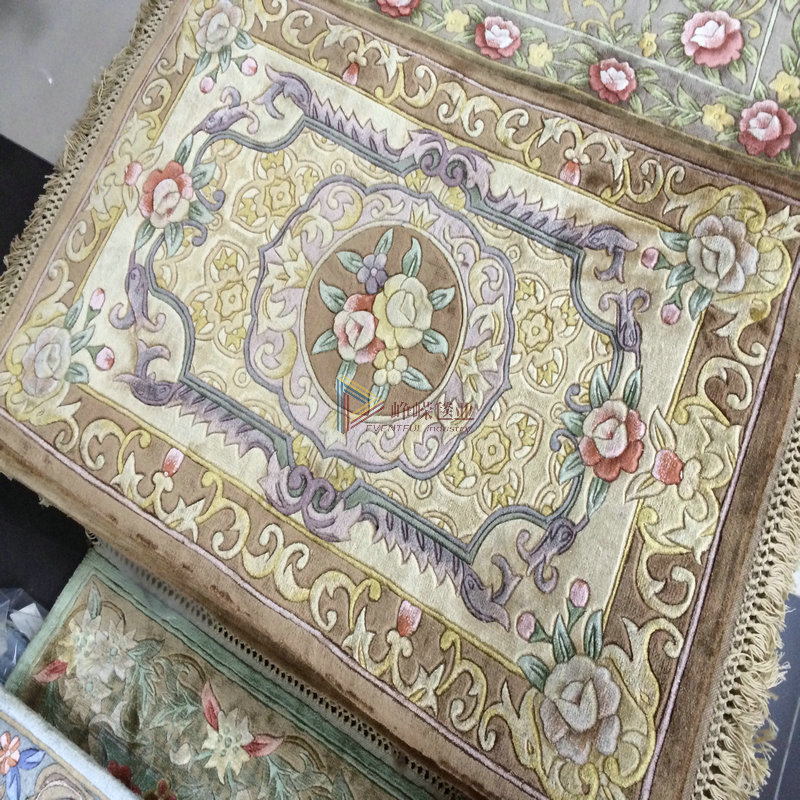 Hand knotted silk/silk carpet chinese * * villa continental bedroom living room carpet carpet custom
