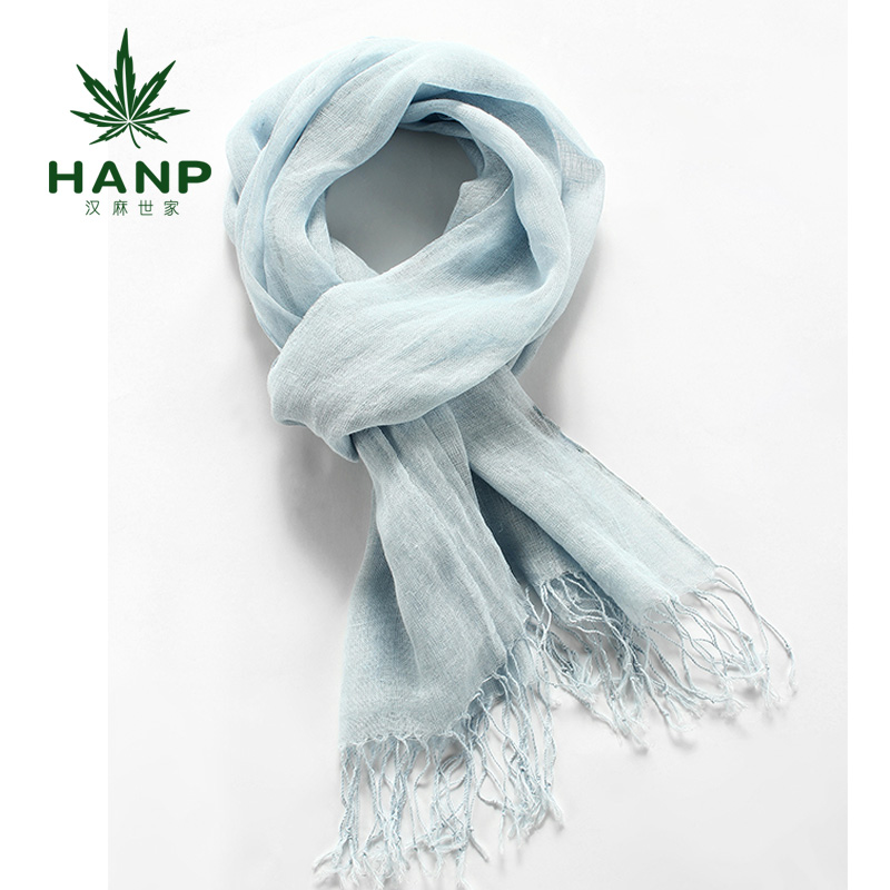Hanp hemp family of japanese ladies wild long section solid color tassel scarf shawl female literary linen