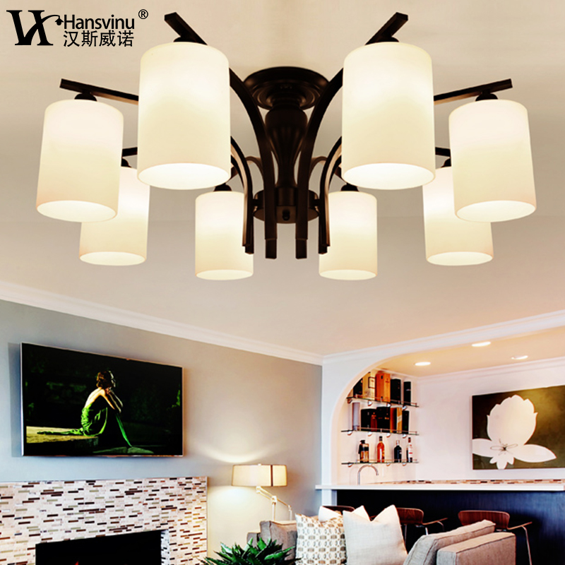 Hansiweinuo iron american pastoral atmosphere minimalist living room bedroom modern european restaurant art chandelier with ornaments