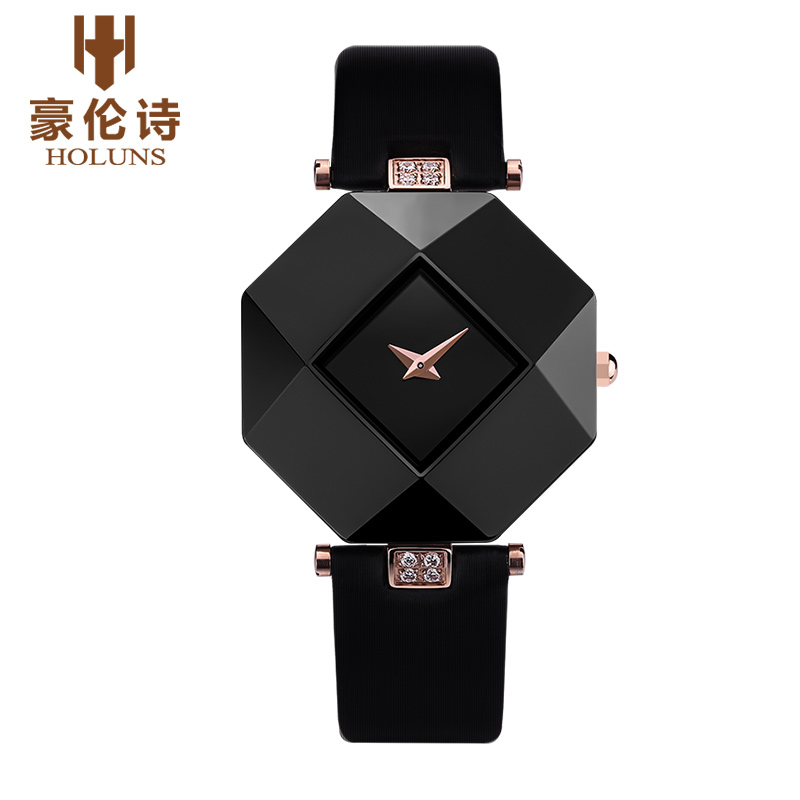 Hao lun poetry genuine stone ceramic watches ladies watches korean fashion female form waterproof watch england women