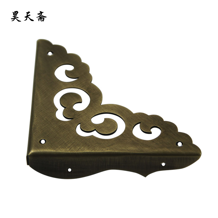 Haotian vegetarian chinese antique ming and qing furniture wooden imitation copper hardware accessories corners on three sides corner flower corner edging