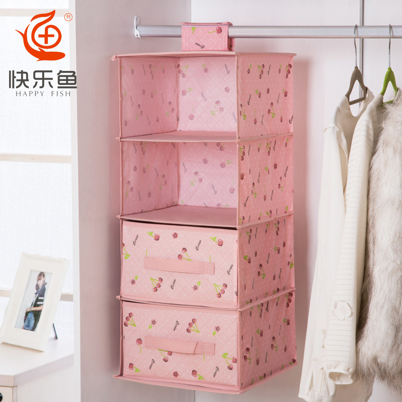 Get Quotations · Happy Fish Drawer Wardrobe Storage Bag Multilayer Storage  Clothing Storage Box Storage Box Full Management Four
