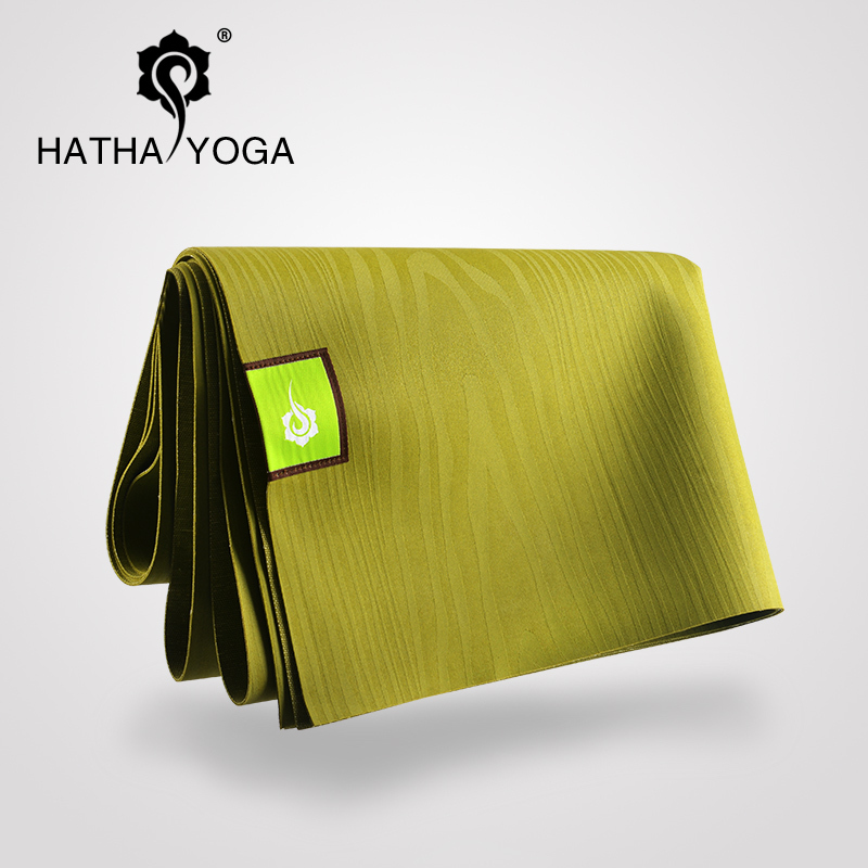 Hatha natural rubber] [portable folding slip yoga mat lengthened nontoxic