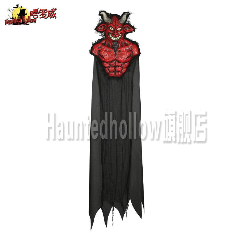 Hauntedhollow holloway halloween halloween bar ktv mall decoration inflatable redså·2100g hanging ghost 18917