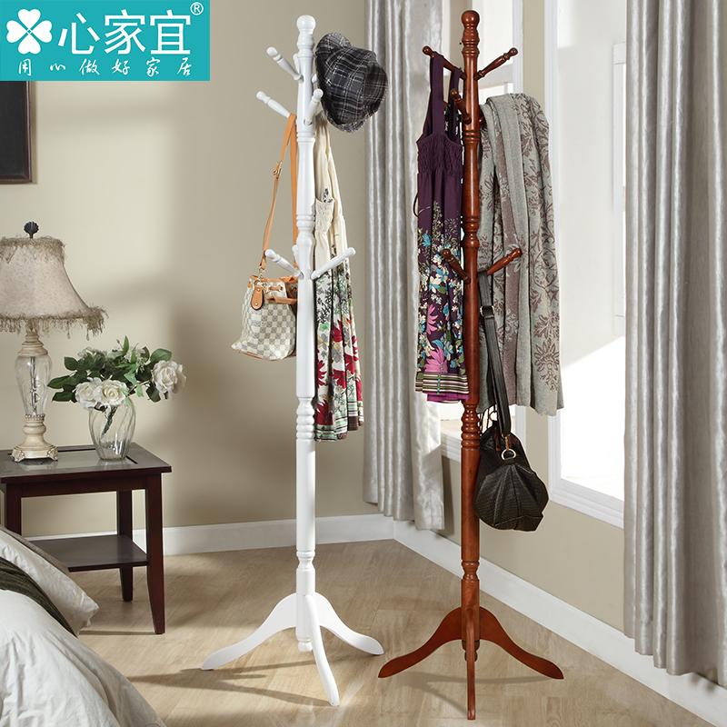 heart ikea wood coat rack hanger simple modern home bedroom floor coat rack clothes rack continental