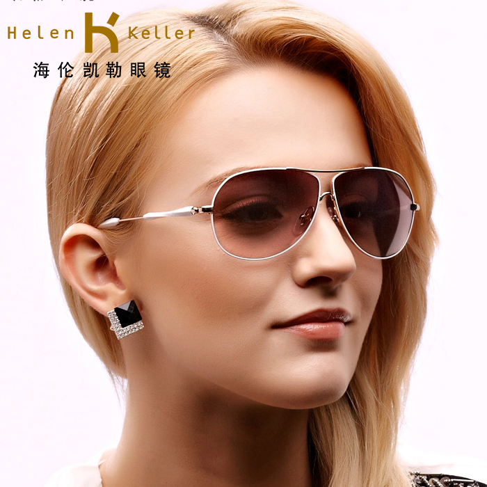 dc505f9623a Get Quotations · Helen keller female fashion special offer free shipping is  too light driving sunglasses sunglasses yurt influx