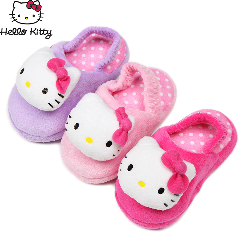 a4f03da76 Get Quotations · Hello kitty hello kitty infant girls fall and winter  children cotton slippers home slippers baby toddler