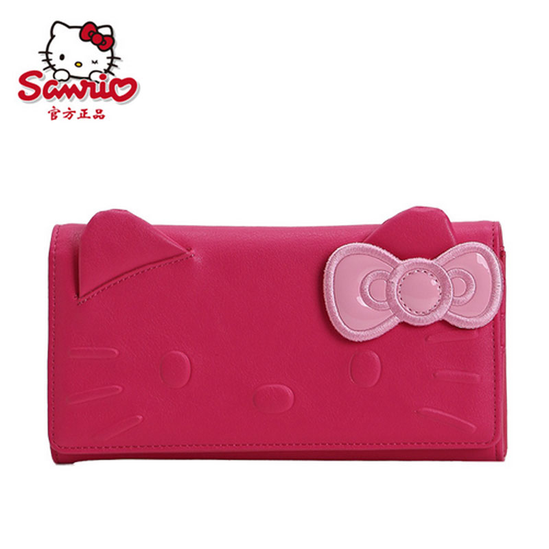 7d34632f05 Get Quotations · Hello kitty hello kitty purse hidden god cat cute girls  bow long wallet wallet student