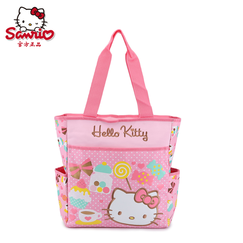 d5258f42a62d Get Quotations · Hello kitty hello kitty sweet series of casual hand bag  girls cute pencil bag large capacity