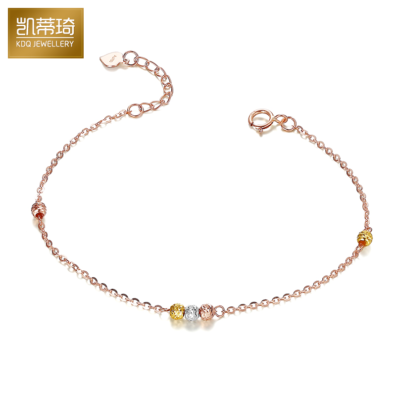 Hello kitty kay jewelry k gold anklet anklets female k gold rose gold color gold anklets genuine transfer beads anklets