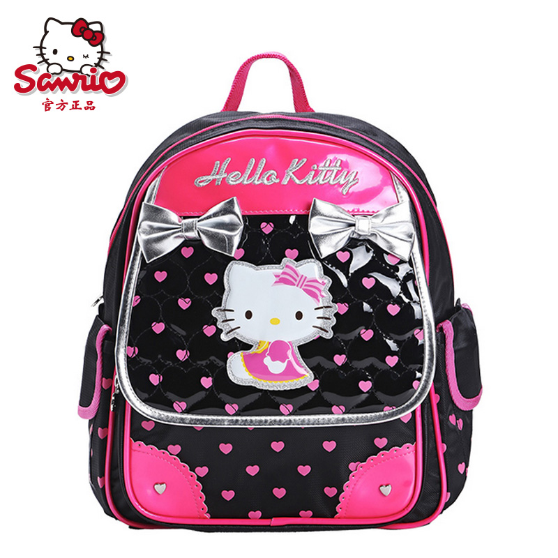 eed9782816 Get Quotations · Hello kitty schoolbag asterion grades cat girls bow bear  backpack schoolbag students aged six to nine
