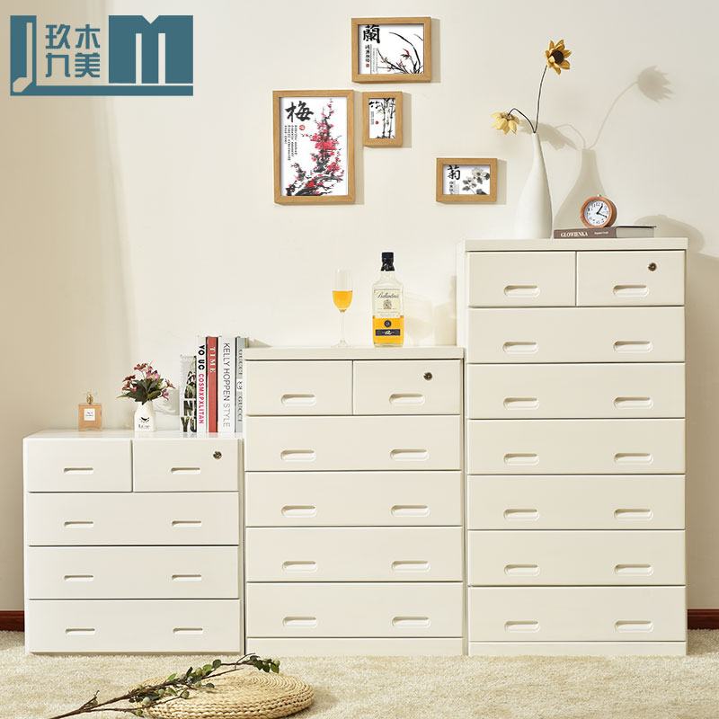 Helping white chest of drawers chest of drawers lockable cabinet combination of solid wood bedroom eight six doo doo cabinet cabinet lockers Chest of drawers