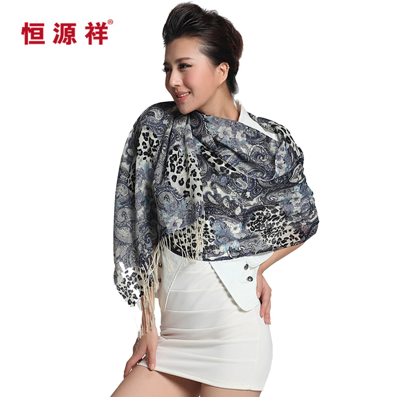 Heng yuan xiang wool scarf female korean autumn and winter scarf shawl scarf dual female autumn and winter thick wool scarves