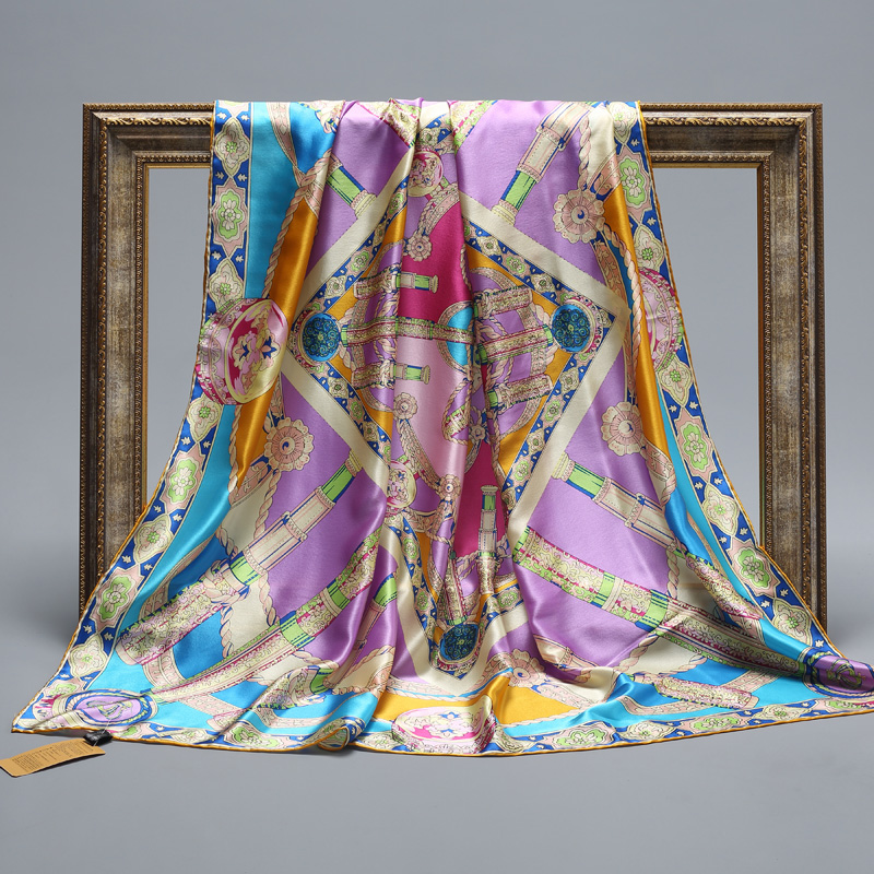 Hengyuan ms. spring and autumn rain jiangnan silk mulberry silk crepe satin silk scarf shawl ms. gifts to give as gifts