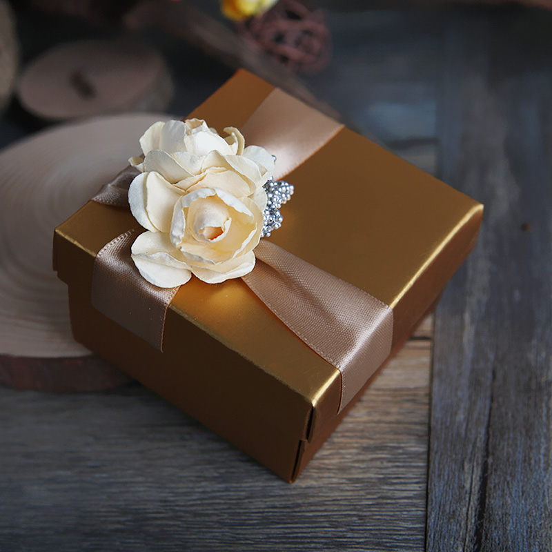Hi dependent new wedding candy box creativity european golden wedding candy box wedding supplies cartons