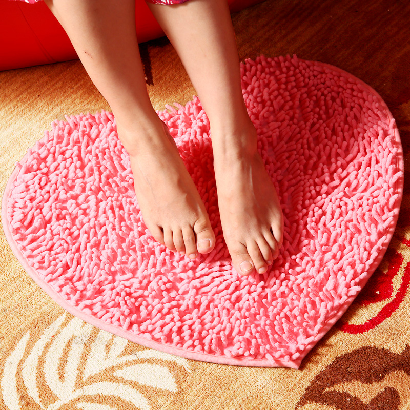 Hi goods space wedding love heart bride wedding supplies wedding room decoration carpet mats door mats doormat