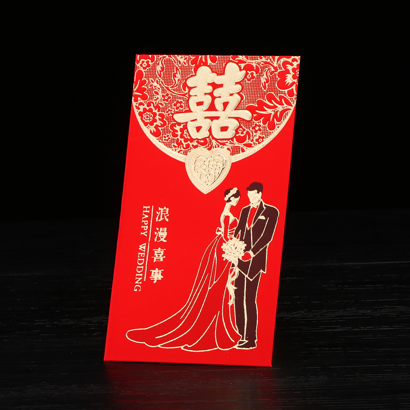 Hi lara married red envelopes bronzing thousand yuan lee is closed creative wedding romantic wedding personality hundred yuan envelopes