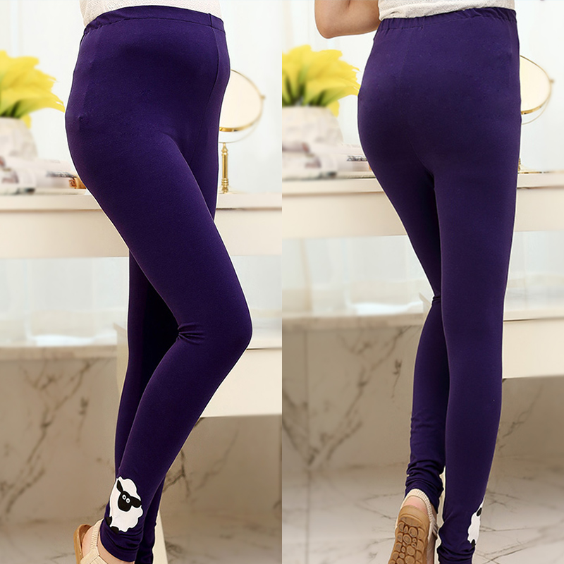 Hi new maternity pants trousers spring models pregnant women care belly pants waist spring and autumn fashion models pregnant women bottoming pants