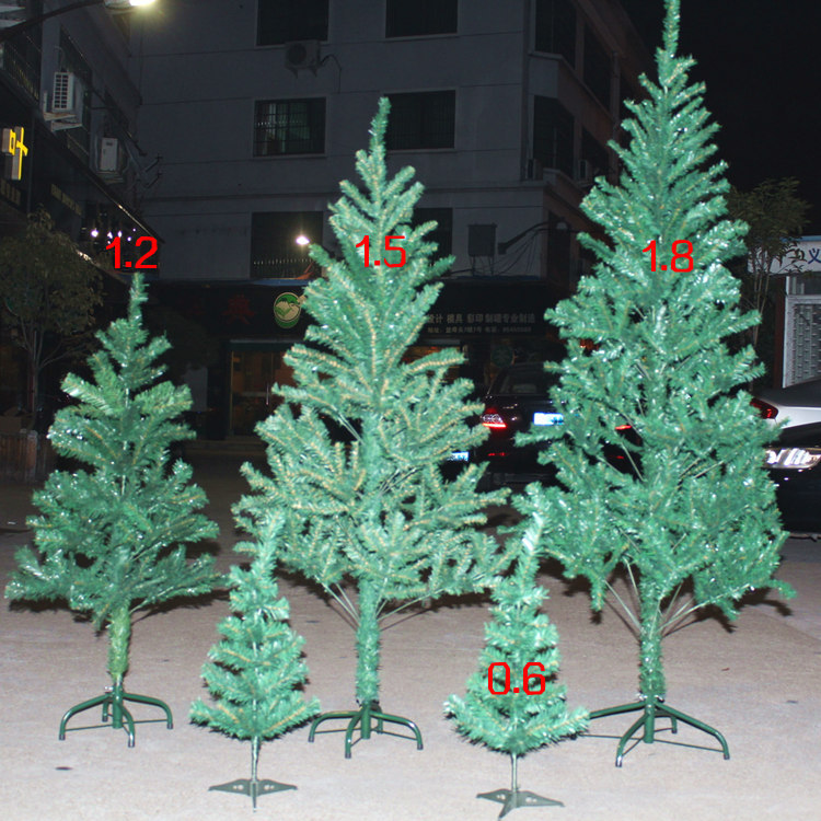 Hi string christmas tree package suits christmas tree decorated christmas tree 1.5 m christmas supplies christmas gifts