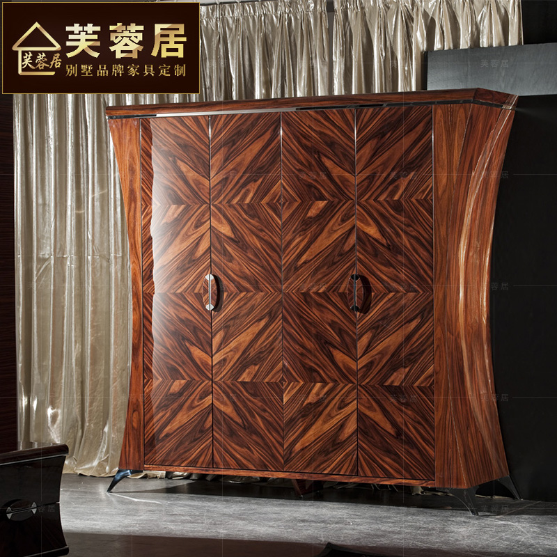 Hibiscus habitat european neoclassical carved wood wardrobe closet overall wood wardrobe closet four bedroom marriage room quality almirah