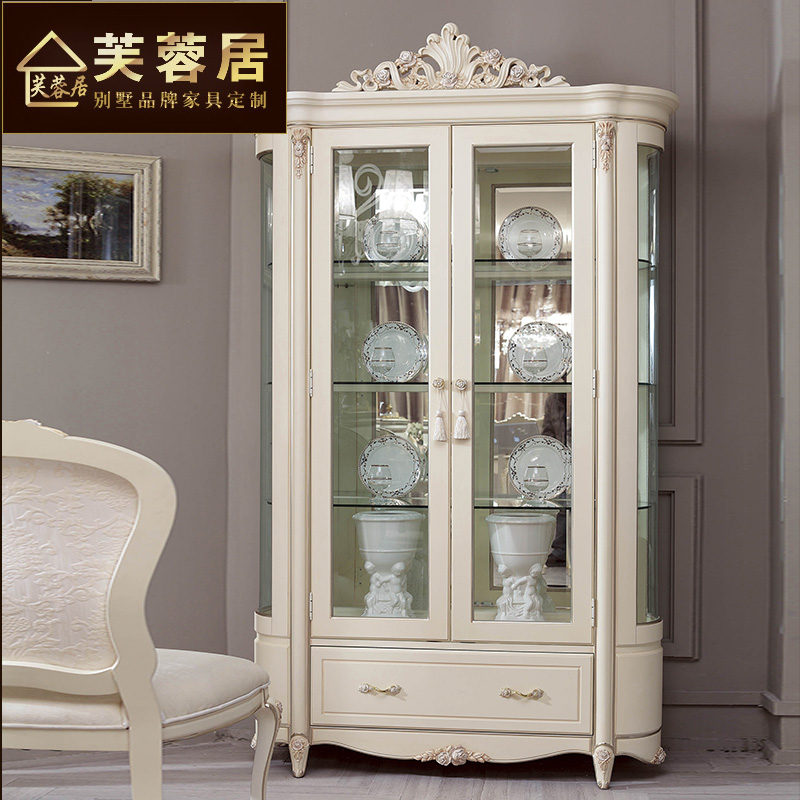 Hibiscus habitat neoclassical ivory carved wood double door wine cooler european wine don't villa hotel custom wine cooler