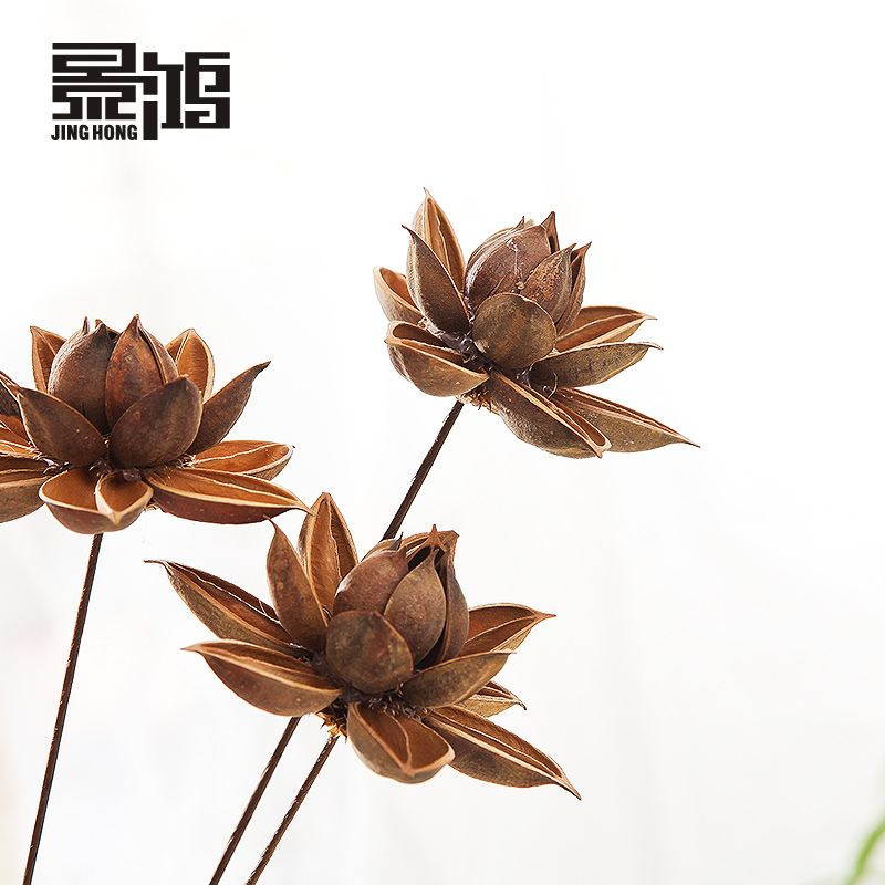 Hibiscus lotus/lotus flower artificial flowers floral table decoration of high quality yunnan dried flower simulation flowers to wholesale