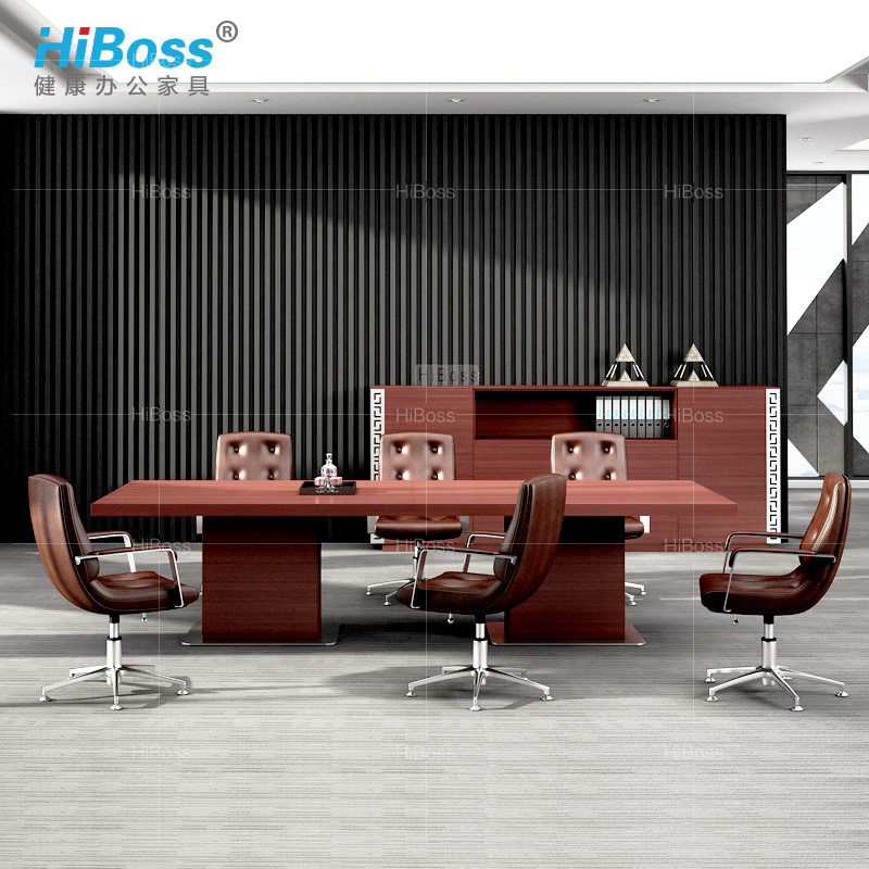 [Hiboss] ceo conference table long table conference table minimalist modern paint wood veneer conference table