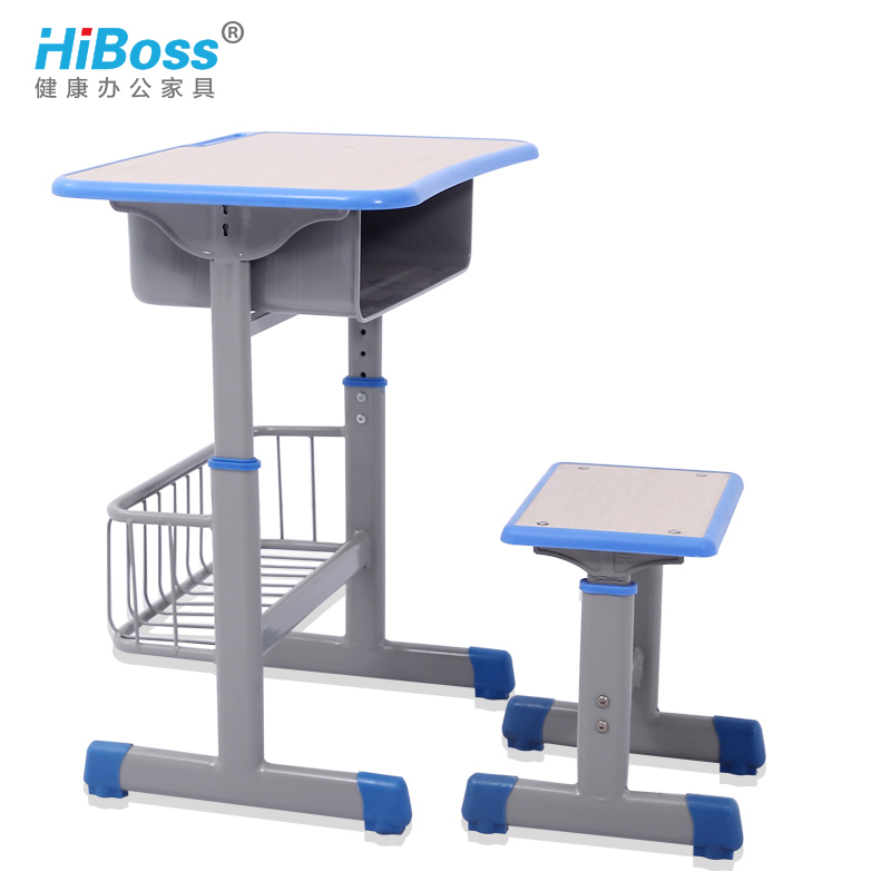 [Hiboss] thick single student children's school desks and chairs remedial classes desks and chairs lift