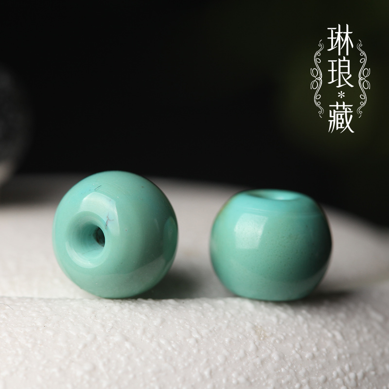 Hidden gem apple round turquoise natural ore original stone barrel drum beads beads top bead waist beads loose beads high porcelain turquoise