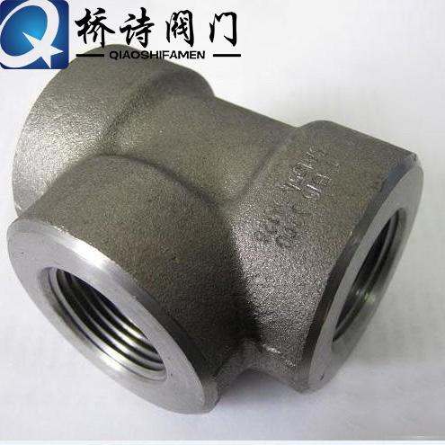 High pressure high pressure fittings 304 threaded tee tee forging 1/4 ~ dn50 threaded wire port connector 2 inch 4 points