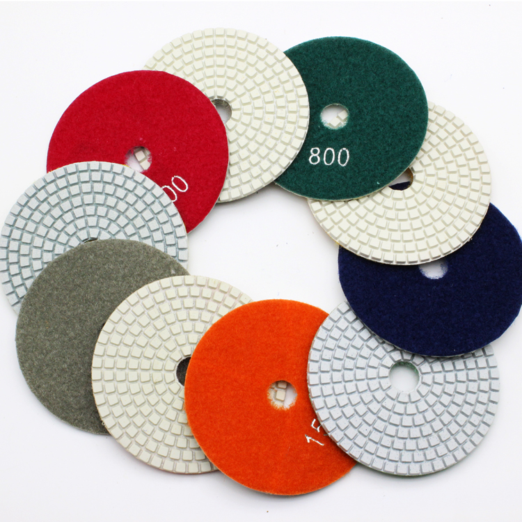 High quality diamond polishing pad mill piece 100mm 4 inch thick polished marble polished stone tablets