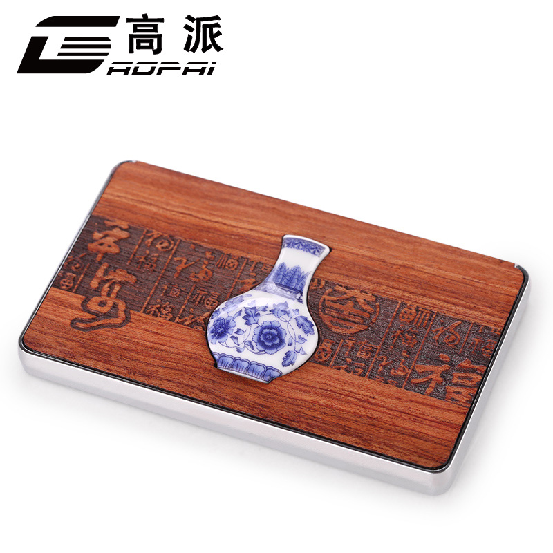 High to send mahogany card holder card holder creative men women business card holder business men large capacity volume genuine mahogany card case
