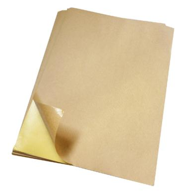 High viscosity a4 kraft paper sticker printing paper color cardboard 100/pack