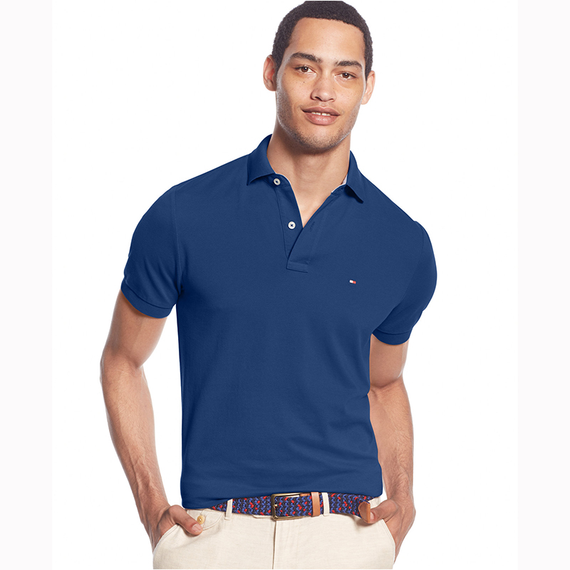 HILFIGER2016 tommy tommy men's slim classic wild solid color polo short sleeve summer clearance deals