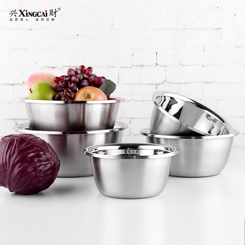 Hing choi thick soup pots vegetables basin and basin bowl beat egg pots circular basin 304 stainless steel pots and more size