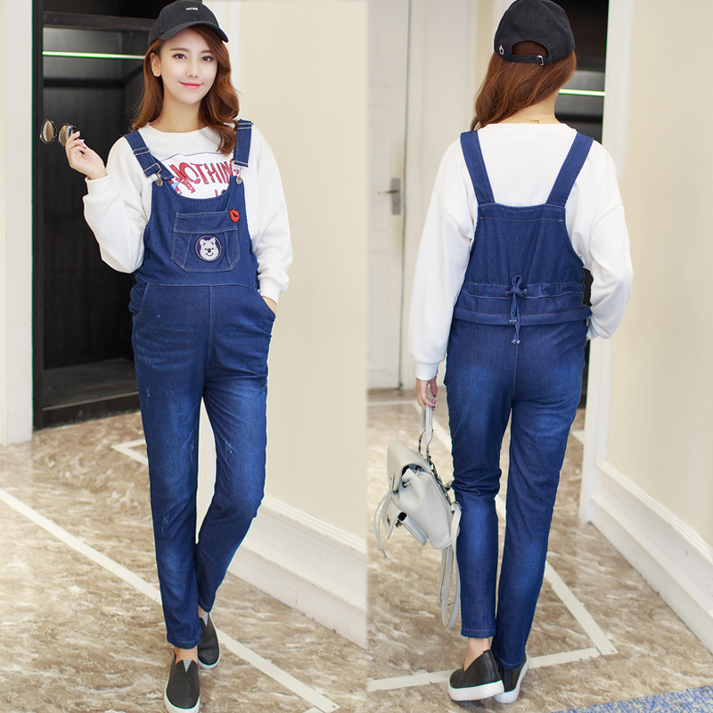 43d1b2420f7c Get Quotations · Hitz maternity pants pregnant bib overalls fall and winter maternity  pants plus velvet autumn and autumn