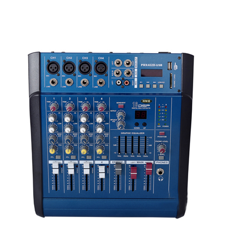 Hnm professional mixer 4 road 8 road 12 road mixer with amplifier one machine 800 w