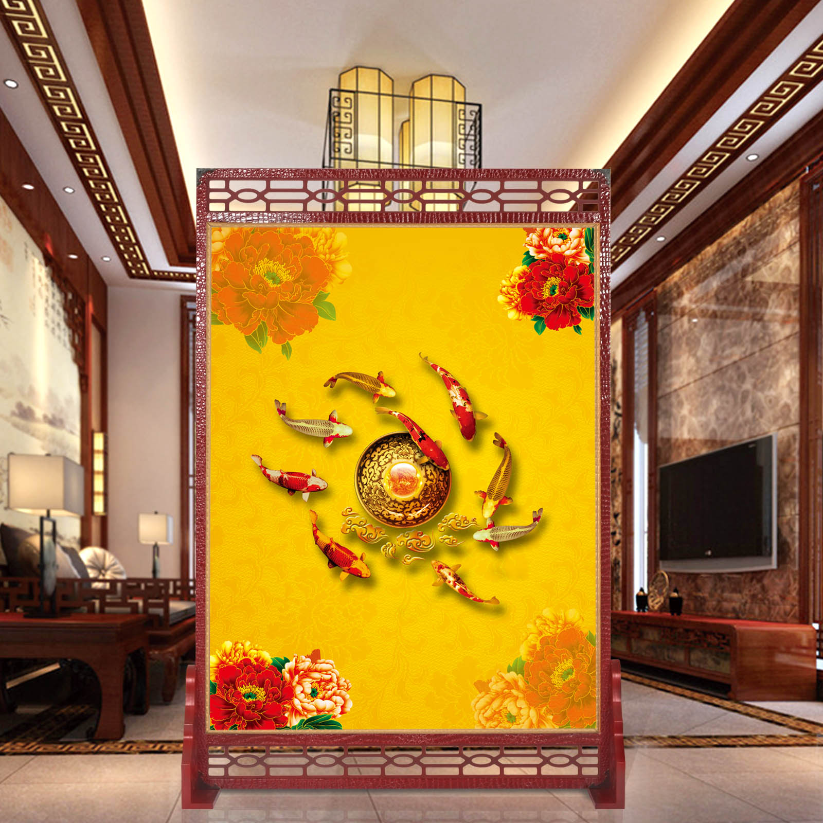 Hollow chinese screen porch off the living room folding screen hotel office folding wooden craft wood seat screen