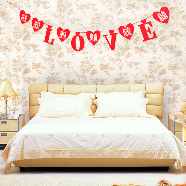 Hollow hi word garland wedding supplies wedding supplies new house decoration supplies large hi word wedding marriage room layout